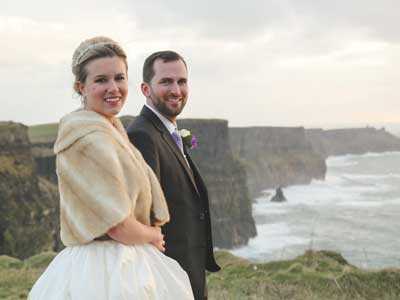 Jennifer and Scott at the Cliffs of Moher March 2015